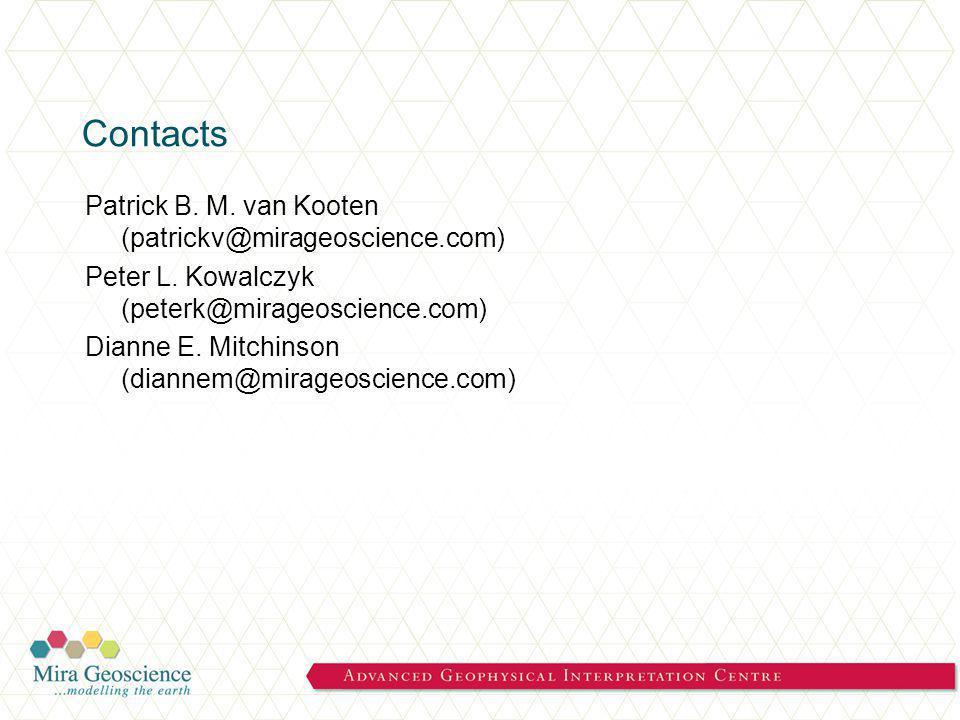 Contacts Patrick B. M. van Kooten (patrickv@mirageoscience.com) Peter L.
