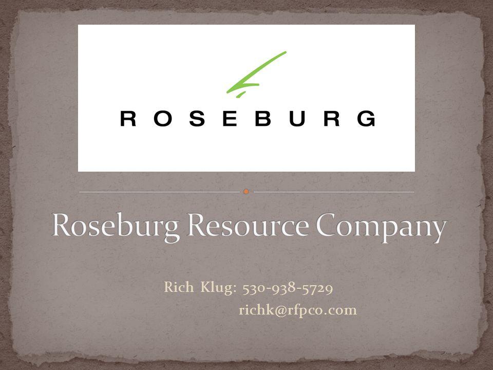 Rich Klug: 530-938-5729 richk@rfpco.com