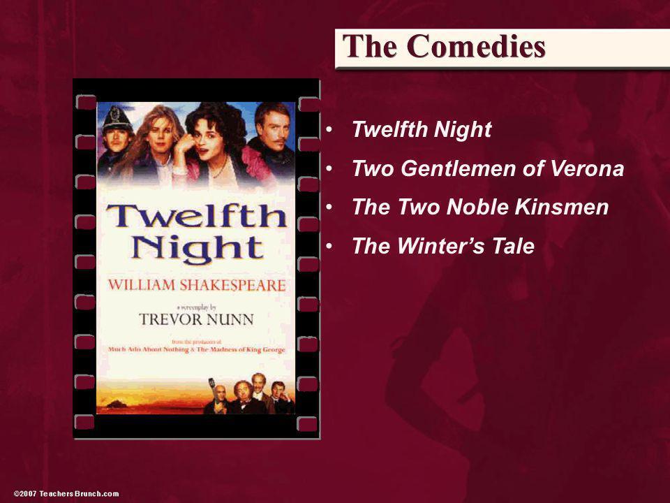 The Comedies Twelfth Night Two Gentlemen of Verona The Two Noble Kinsmen The Winters Tale