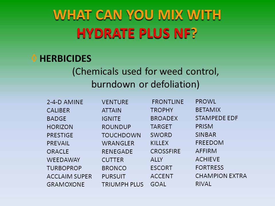 WHAT CAN YOU MIX WITH HYDRATE PLUS NF.