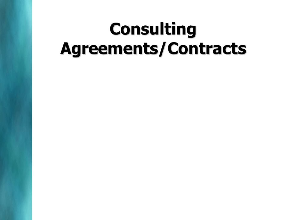Consulting Agreements/Contracts