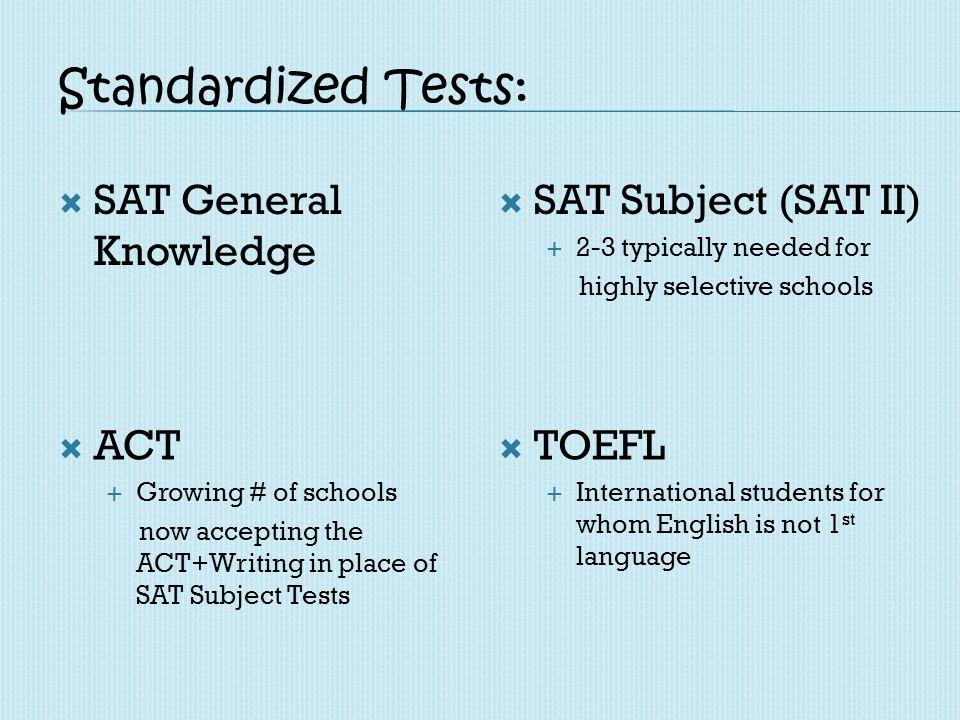 Test Registration: SAT/SAT 2 Register with Frise Forms Cash or Check (USD/KSH) ACT Register online www.actstudent.org www.actstudent.org Credit Card TOEFL Register with Frise Paper based vs.