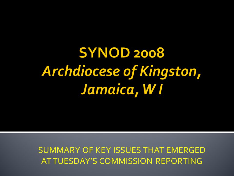 SUMMARY OF KEY ISSUES THAT EMERGED AT TUESDAYS COMMISSION REPORTING