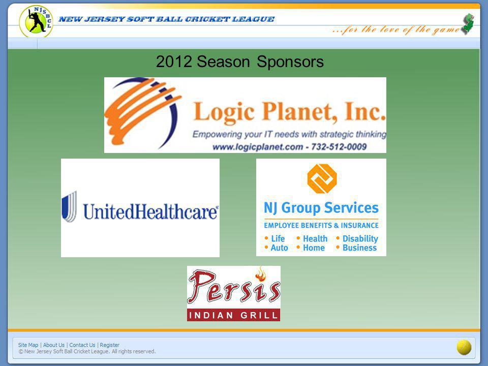 2012 Season Sponsors