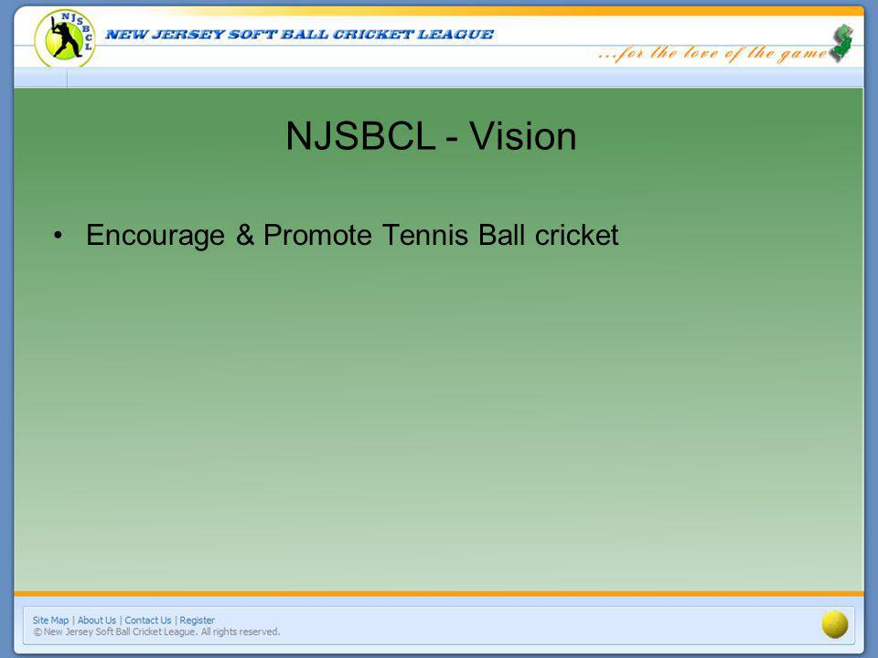 NJSBCL - Vision Encourage & Promote Tennis Ball cricket