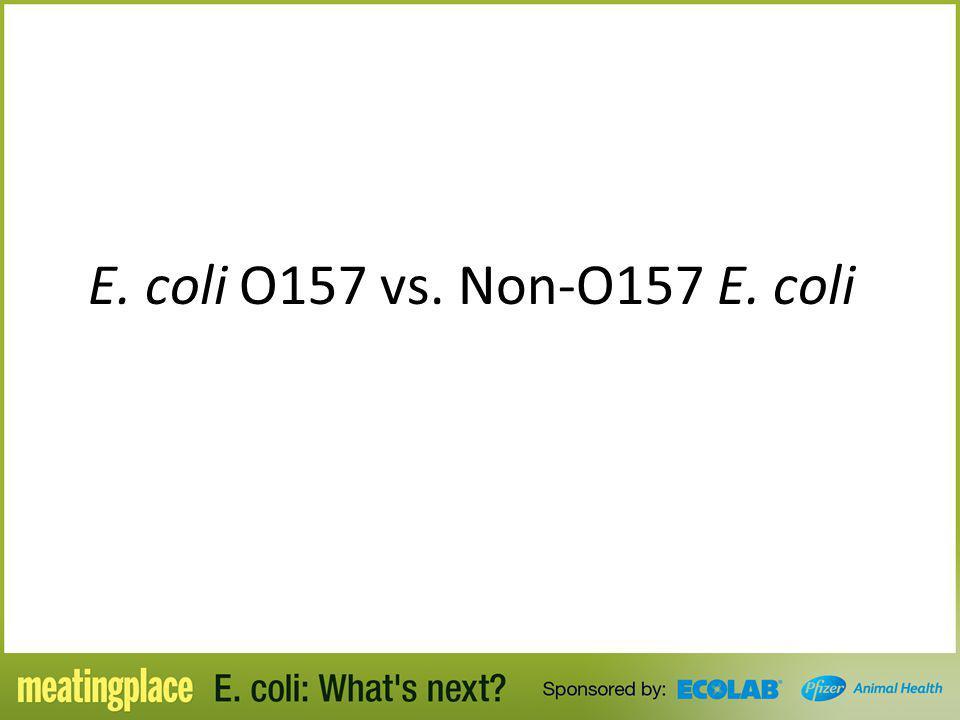 E. coli O157 vs. Non-O157 E. coli