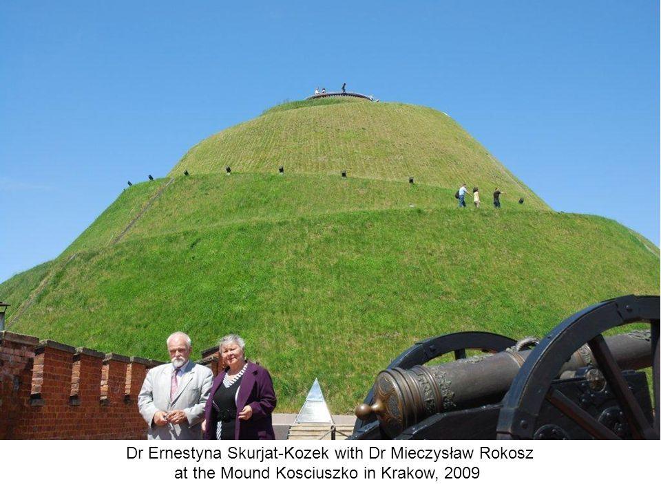 Dr Ernestyna Skurjat-Kozek with Dr Mieczysław Rokosz at the Mound Kosciuszko in Krakow, 2009