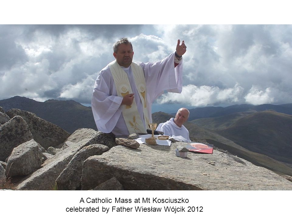 A Catholic Mass at Mt Kosciuszko celebrated by Father Wiesław Wójcik 2012