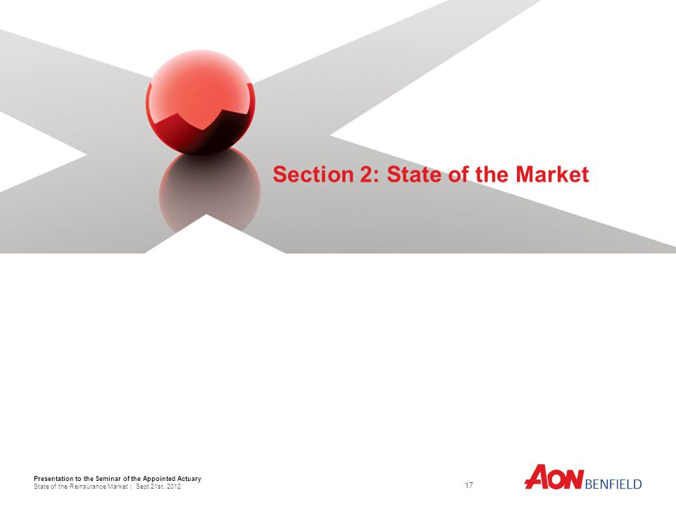 Presentation to the Seminar of the Appointed Actuary State of the Reinsurance Market | Sept 21st, Section 2: State of the Market