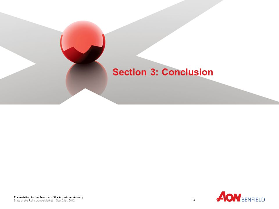 Presentation to the Seminar of the Appointed Actuary State of the Reinsurance Market | Sept 21st, Section 3: Conclusion