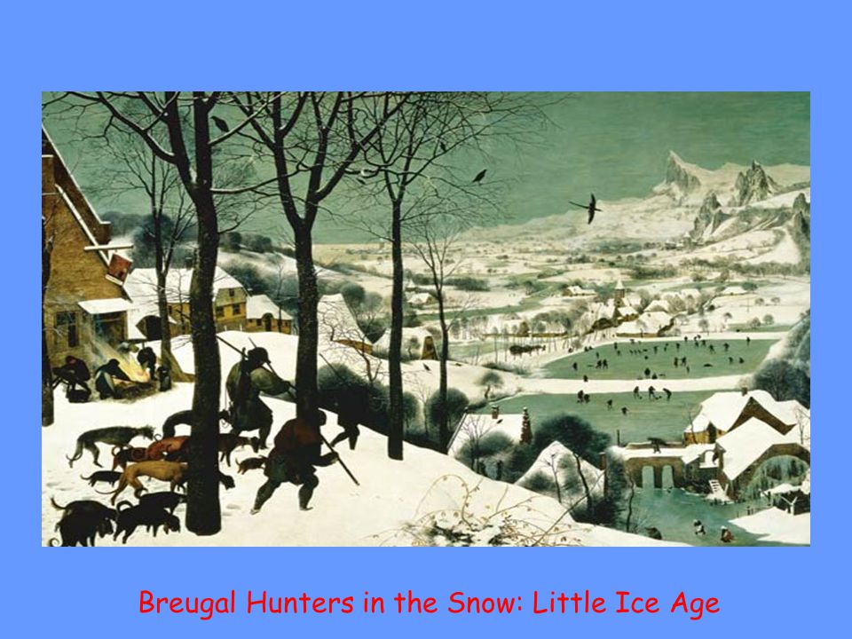Breugal Hunters in the Snow: Little Ice Age