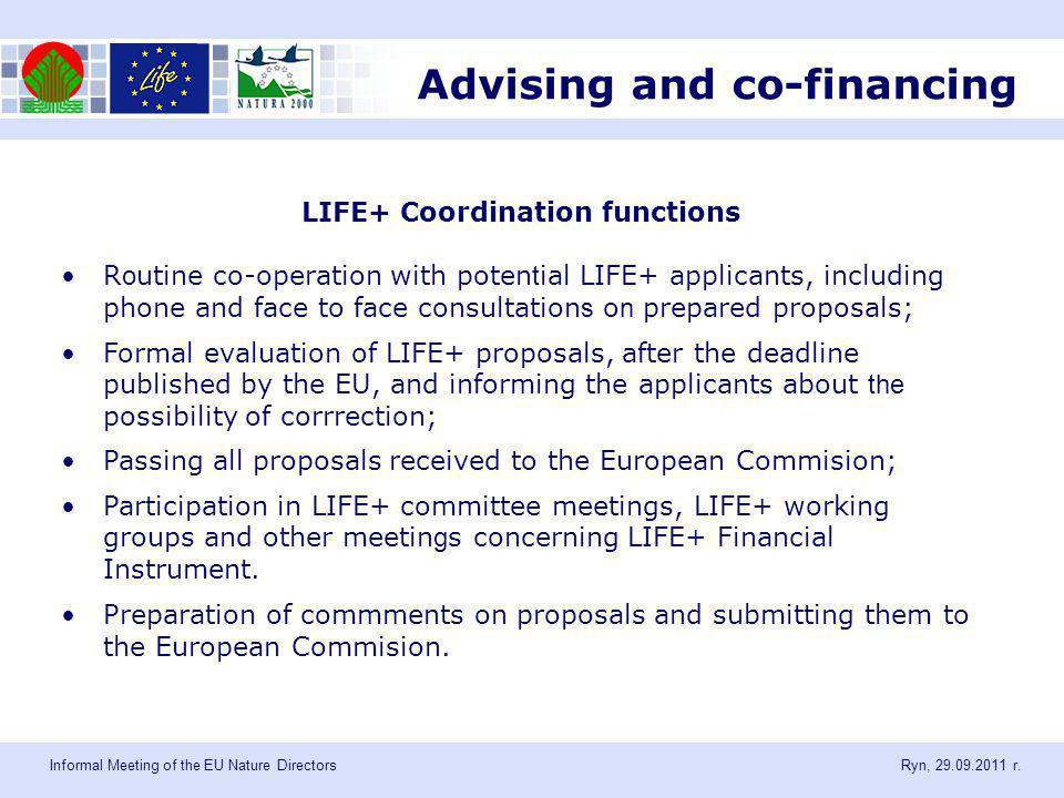 Informal Meeting of the EU Nature Directors Ryn, 29.09.2011 r.