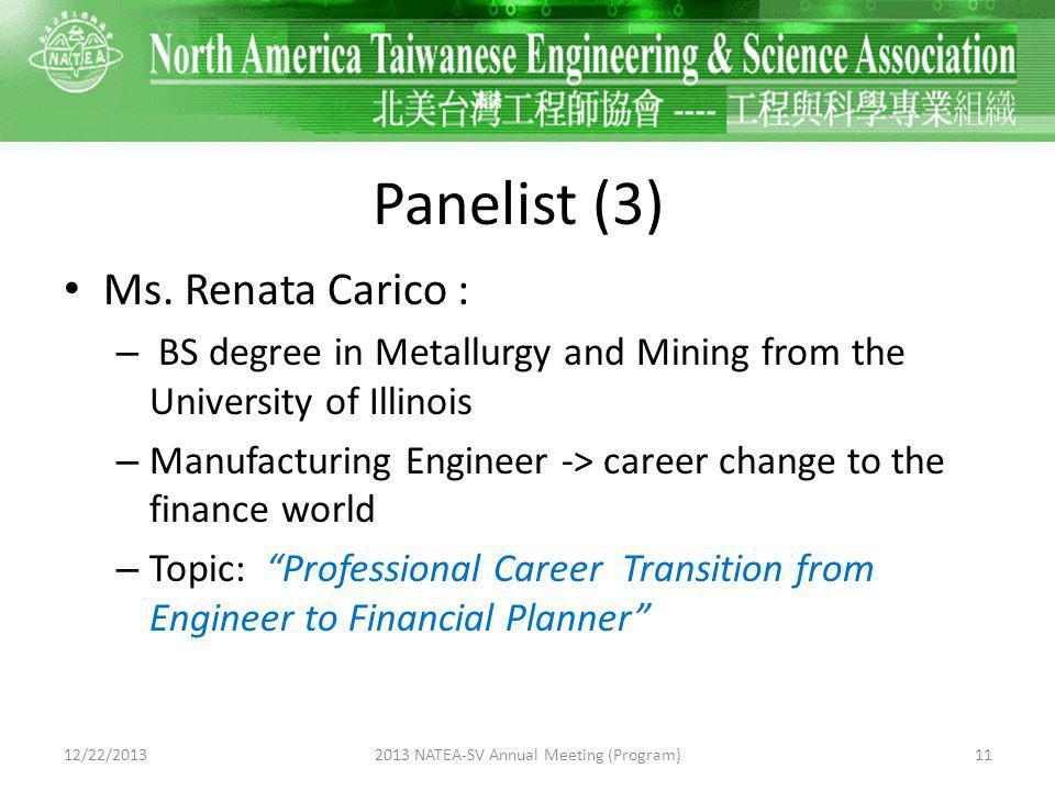 Panelist (3) Ms.