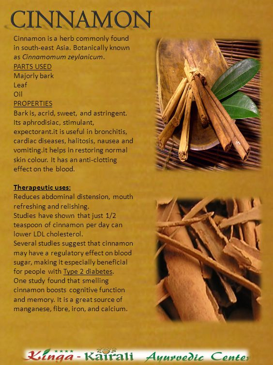 Cinnamon is a herb commonly found in south-east Asia.