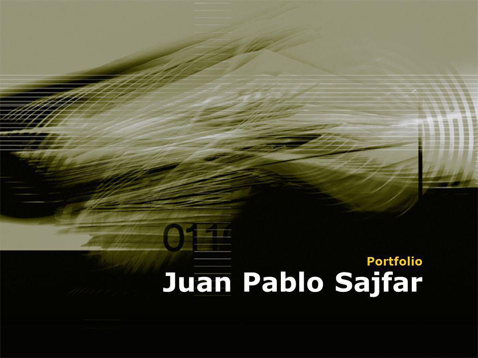Juan Pablo Sajfar Portfolio