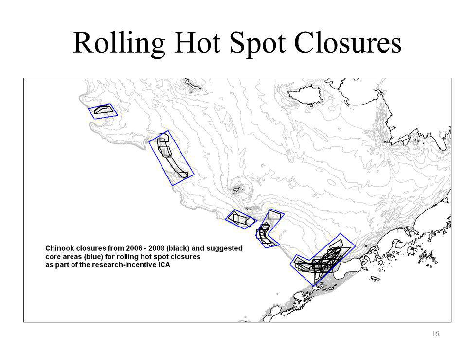 16 Rolling Hot Spot Closures