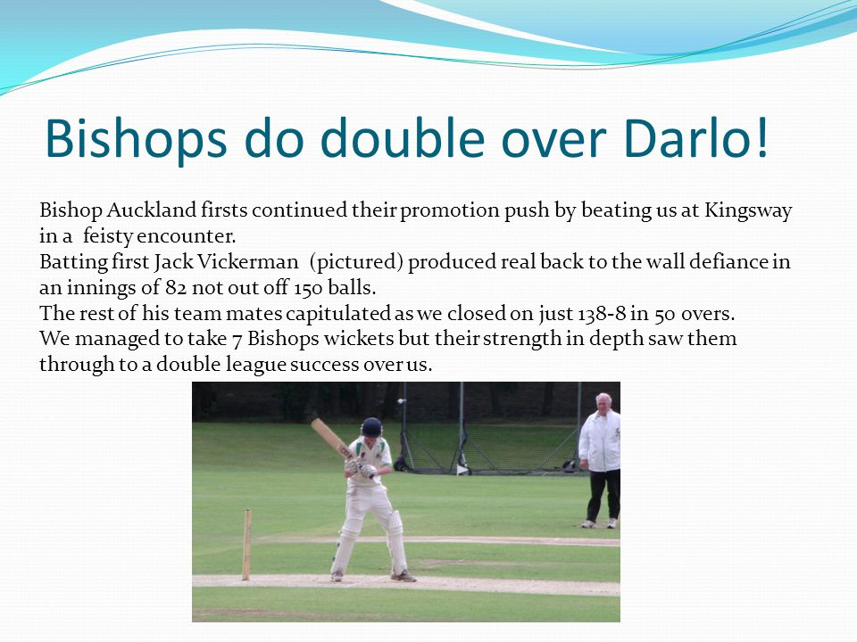 Bishops do double over Darlo.