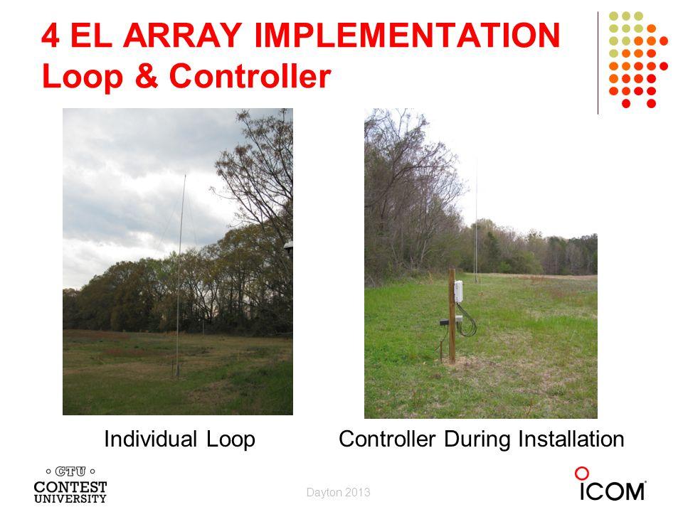 4 EL ARRAY IMPLEMENTATION Loop & Controller Individual Loop Controller During Installation Dayton 2013