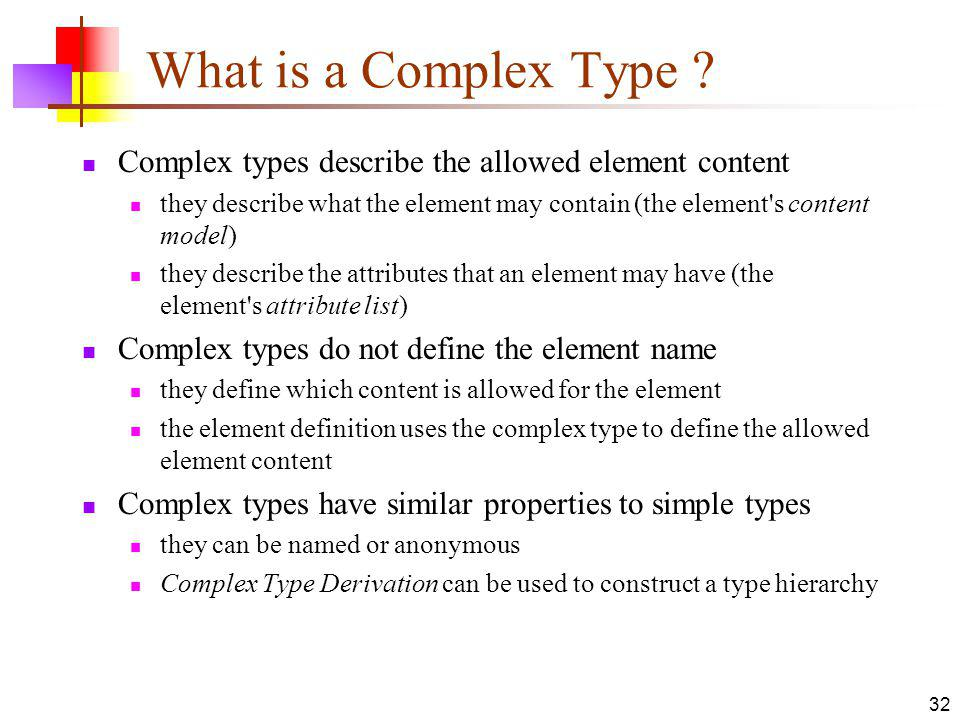 What is a Complex Type .