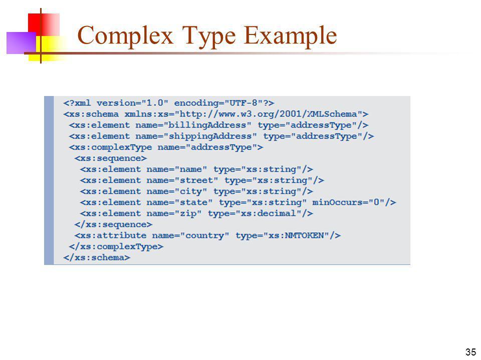 Complex Type Example 35