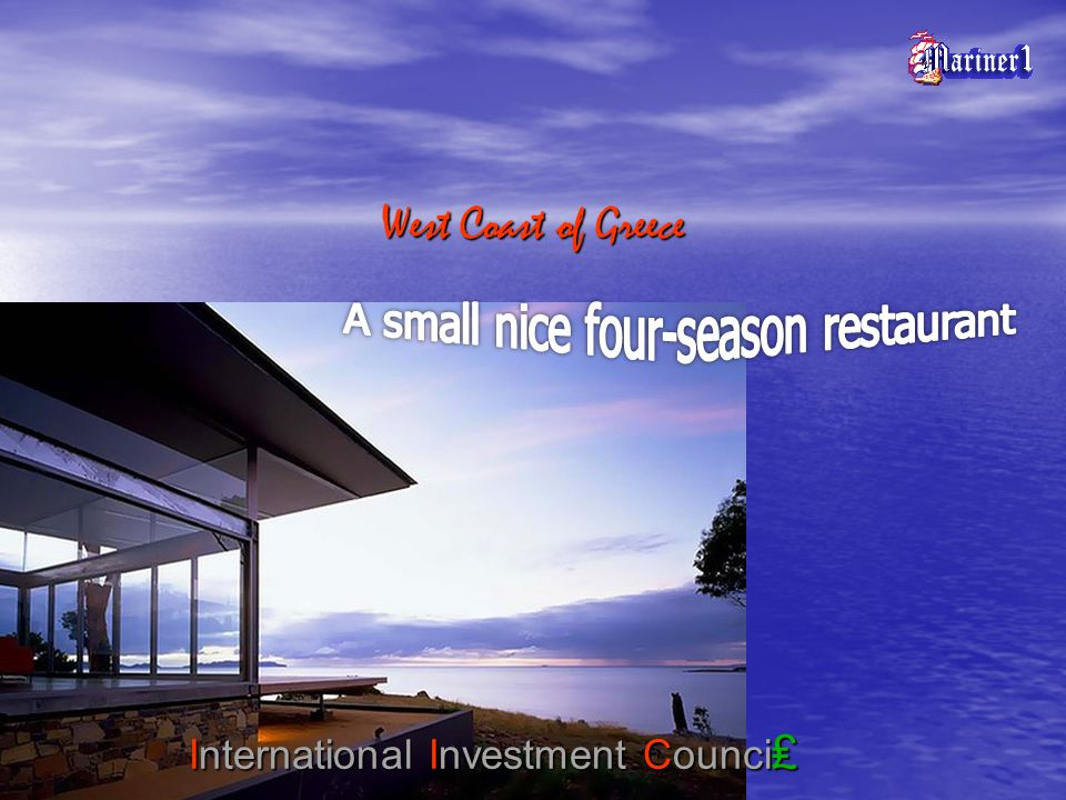 West Coast of Greece International Investment Counci