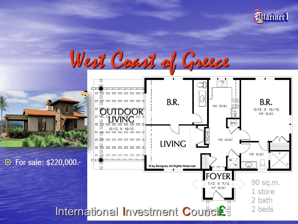 West Coast of Greece International Investment Counci 107 sq.m.
