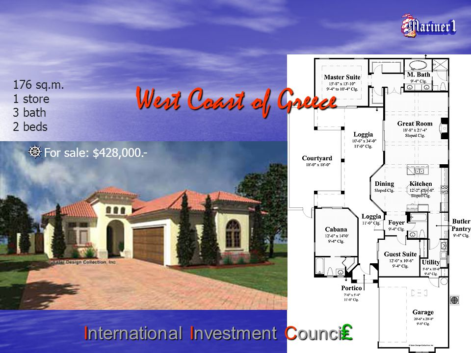 West Coast of Greece International Investment Counci 176 sq.m.