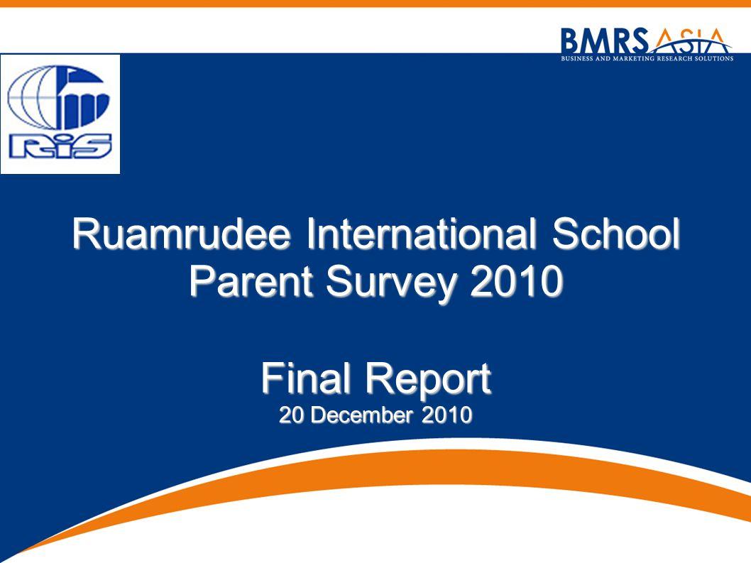 Ruamrudee International School Parent Survey 2010 Final Report 20 December 2010