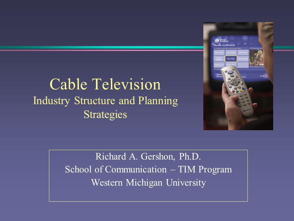 Cable Television: History and Development l Cable television (also called CATV) was developed in the late 1940s in communities unable to receive television signals.