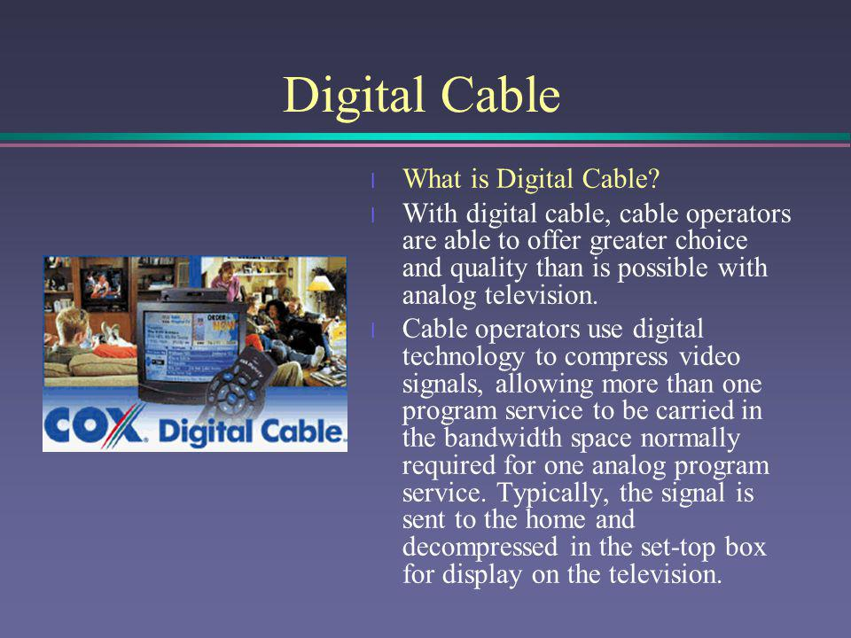 Video on Demand (Pay-Per-View) l Video on Demand (pay-per-view) television represents a distinct category of pay television services.