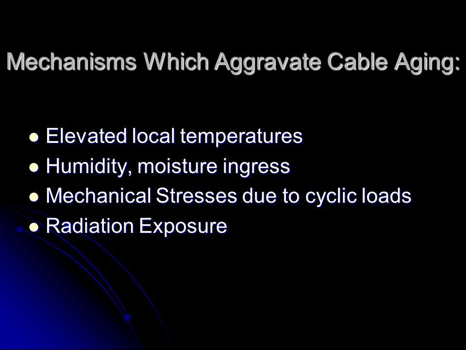 Cable typeTemperature Sensitivity Radiation Sensitivity Remarks Polyvinyl chloride (PVC) SensitiveNot sensitiveEmbrittlement at elevated temp.