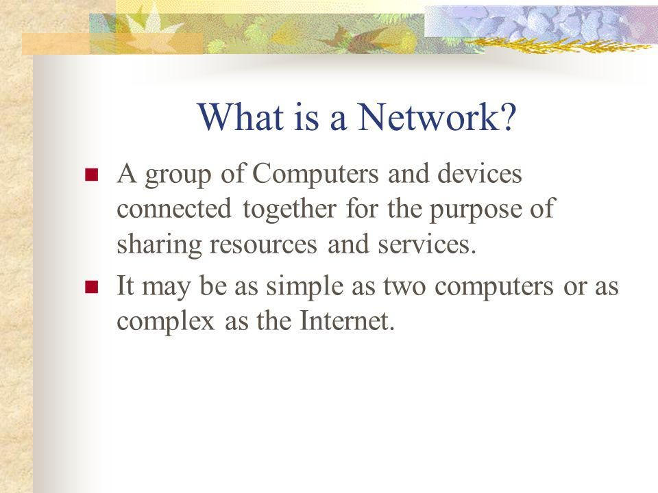 3 Why Networking? Sharing information eg. data communication Do you prefer these? Or this?