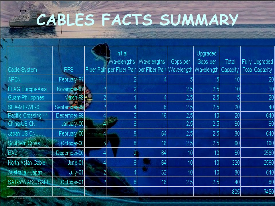CABLES FACTS SUMMARY