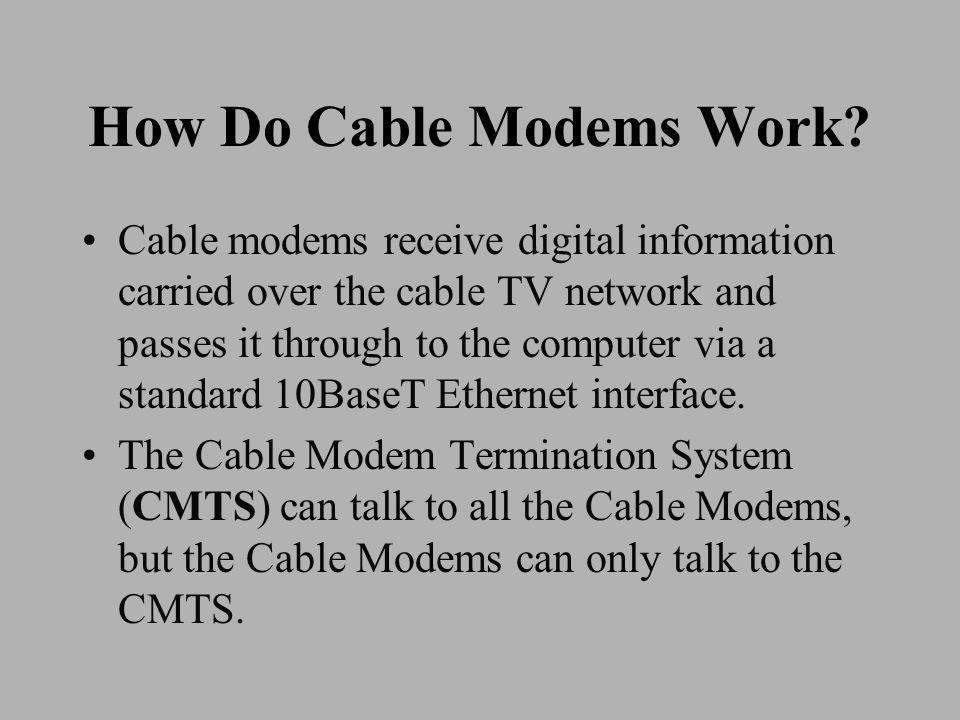 How Do Cable Modems Work.