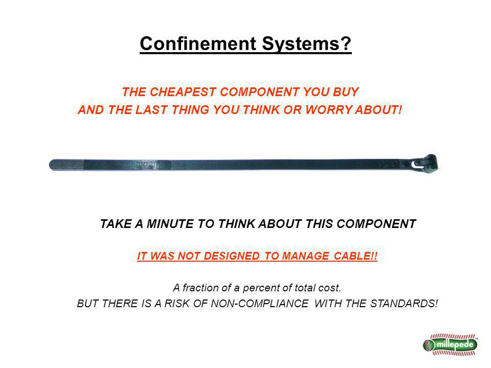 Confinement Systems? THE CHEAPEST COMPONENT YOU BUY AND THE LAST THING YOU THINK OR WORRY ABOUT! TAKE A MINUTE TO THINK ABOUT THIS COMPONENT IT WAS NO