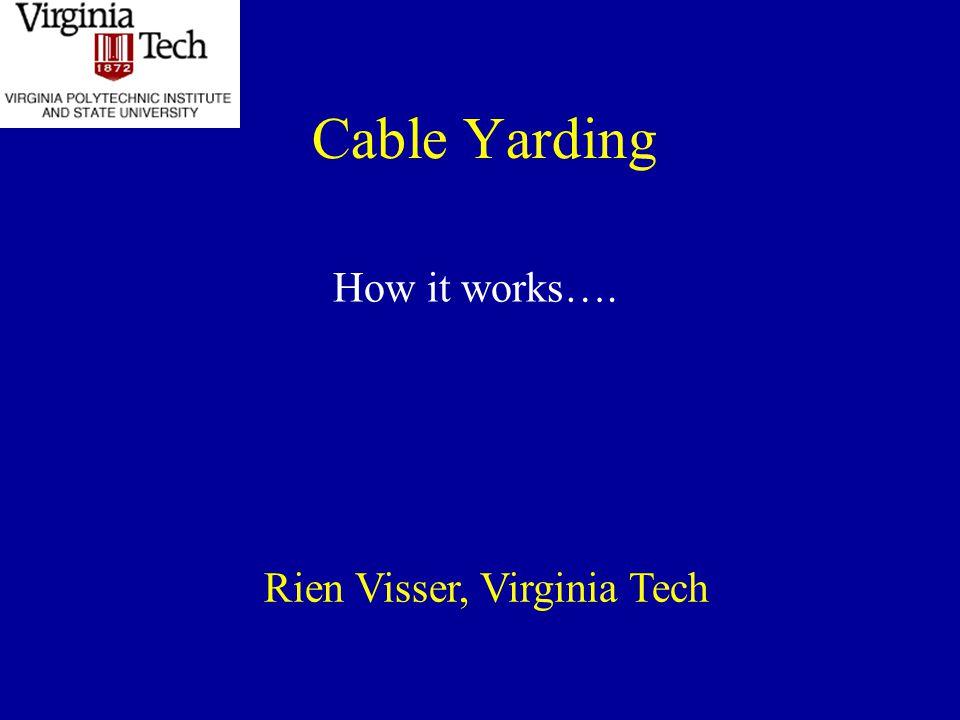 - add chokers, choker-setter and operator stems skyline tailhold yarder mainline and carriage choker -setter operator