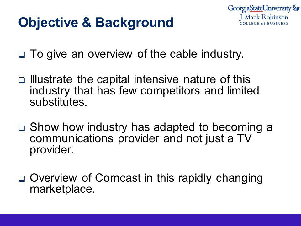 Power Increases with Their Size As cable companies have grown larger and increased their geographic reach, theyve gained more resources and power when they negotiate with a single city or choose to raise prices in billions Enterprise value = total equity (a.k.a.