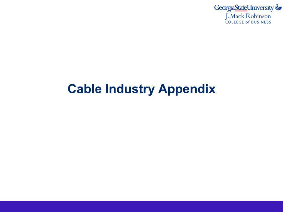 Cable Industry Appendix