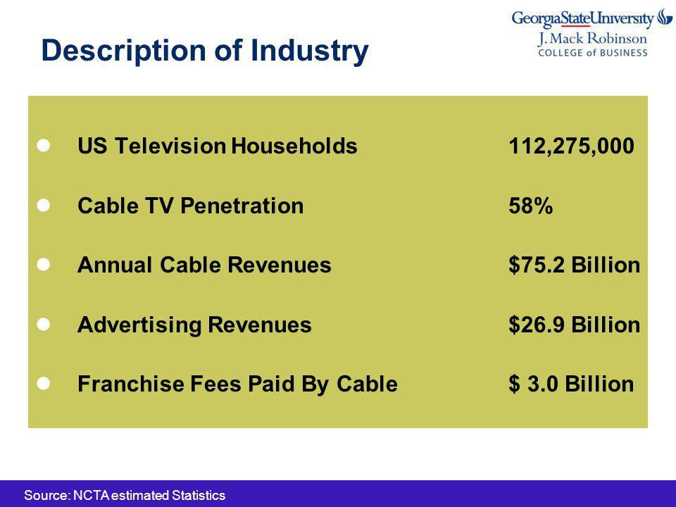 Strategies & Goals Sustainable Double-Digit Growth Smart Capital/Expense Spending Greater Customer Focus Superior Products Powering Business Expand HD and VOD capabilities Super High Speed Internet (Docsis 3.0) Establishing New Growth Opportunities Commercial Interactive Advertising