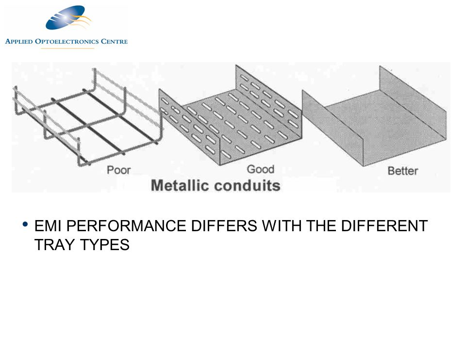 EMI PERFORMANCE DIFFERS WITH THE DIFFERENT TRAY TYPES