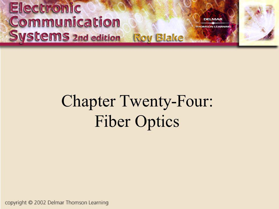 Chapter Twenty-Four: Fiber Optics