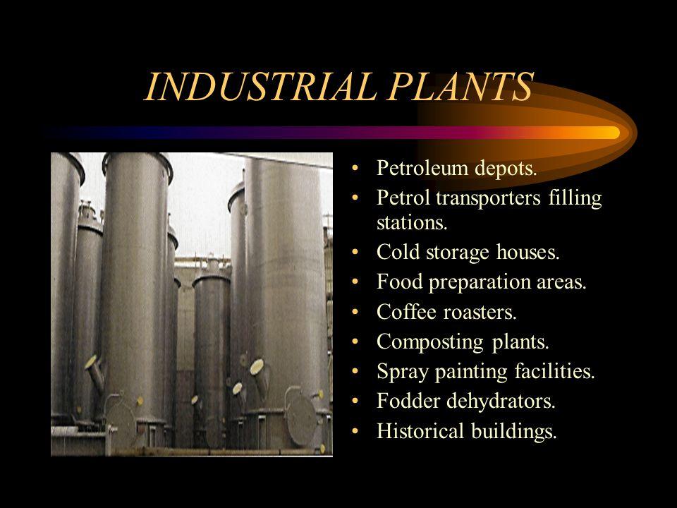 INDUSTRIAL PLANTS Petroleum depots. Petrol transporters filling stations.