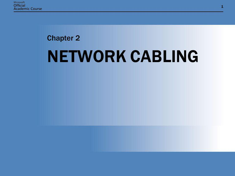 Chapter 2: NETWORK CABLING22 UTP CABLE GRADES CategoryFrequencyPrimary Application 1Up to 0 MHzVoice networks 2Up to 1 MHzVoice and low-speed data networks less than 4 Mbps 3Up to 16 MHzVoice and data networks from 4 to 100 Mbps 4Up to 20 MHz16-Mbps Token Ring 5Up to 100 MHz100-Mbps Fast Ethernet 5eUp to 100 MHz1000-Mbps Gigabit Ethernet 6Up to 250 MHz1000-Mbps Gigabit Ethernet
