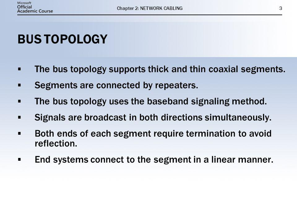 Chapter 2: NETWORK CABLING4 THICK AND THIN COAXIAL BUS