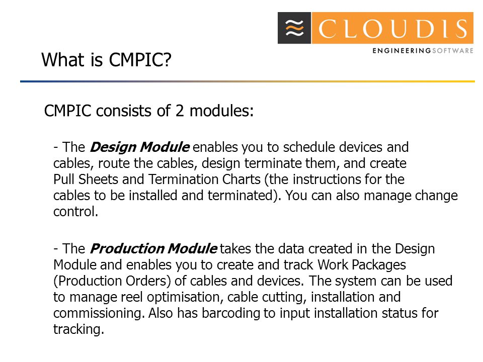 What is CMPIC.