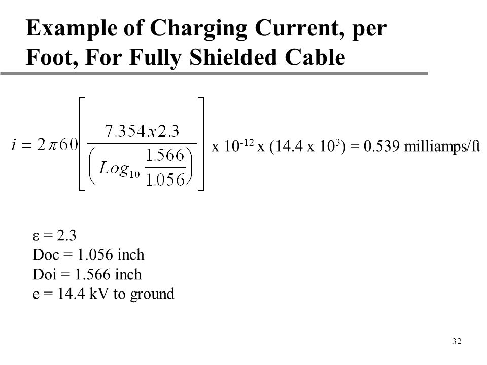 Example of Charging by Induction 32 Example of Charging Current