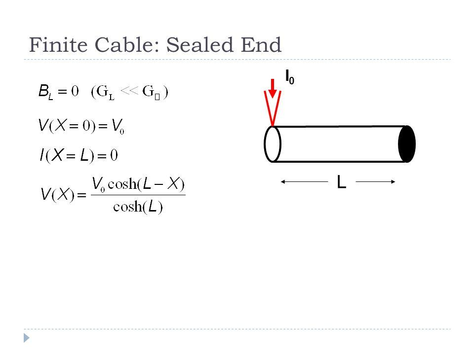 Finite Cable: Sealed End L I0I0
