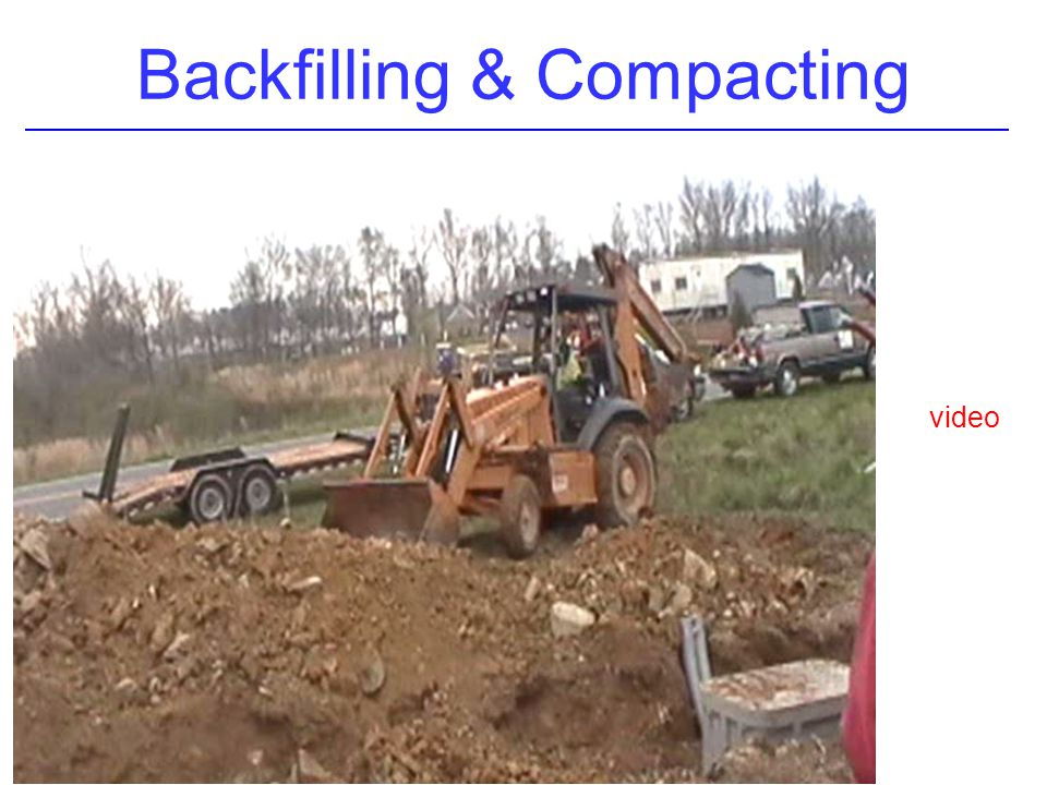 Backfilling & Compacting video