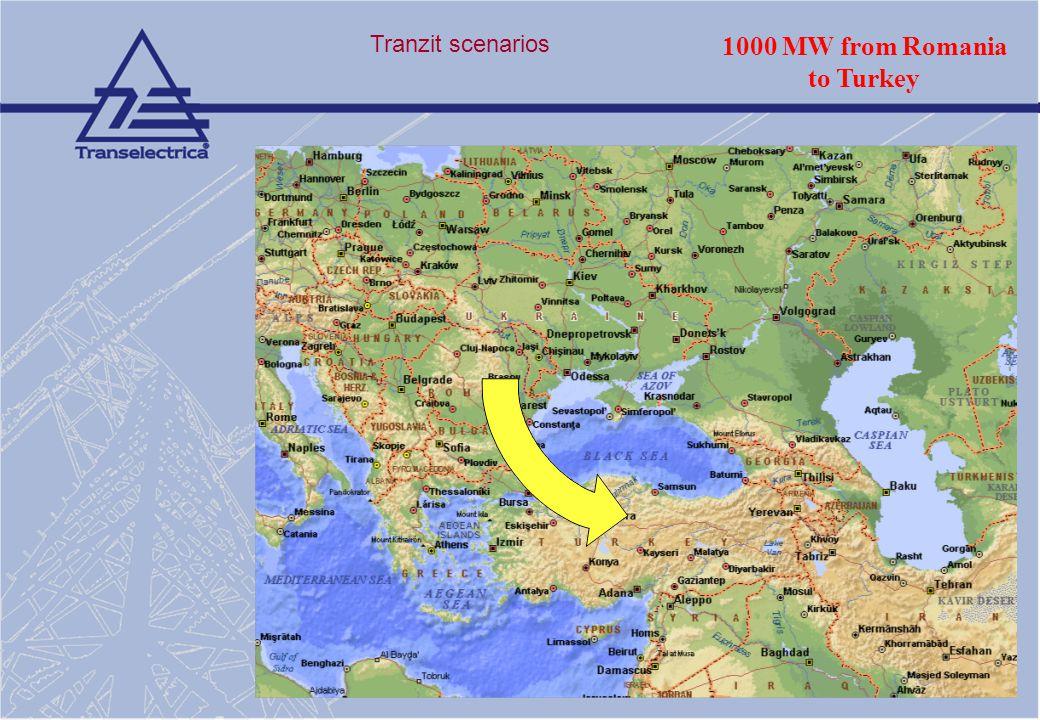 Tranzit scenarios 1000 MW from Romania to Turkey