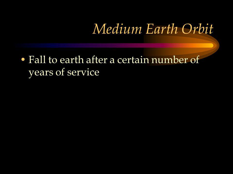 Medium Earth Orbit Fall to earth after a certain number of years of service